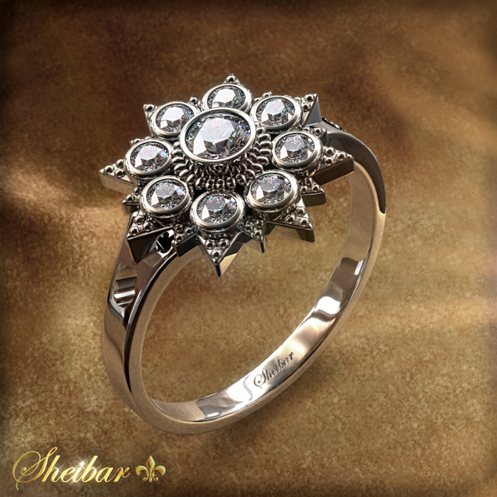 ROSE VINTEG RING